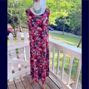 Koret Tropical Floral Maxi Dress L FREE SHIP